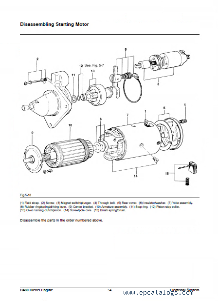 Daewoo Doosan D430 sel Engine PDF Manual on