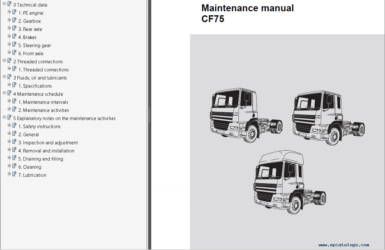 daf trucks series 95xf cf65 cf75 cf85 lf45 lf55 workshop manual pdf daf xf 95 wiring diagram pdf efcaviation com daf cf85 wiring diagram at edmiracle.co