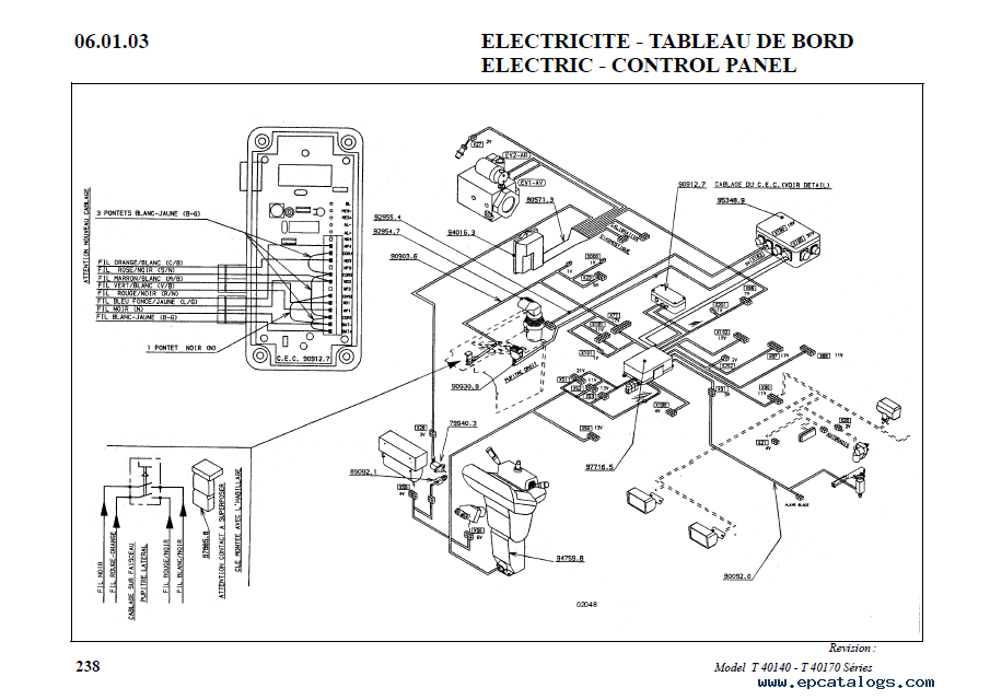 Bobcat T40140 - T40170 Telescopic Handlers Parts Manual PDF