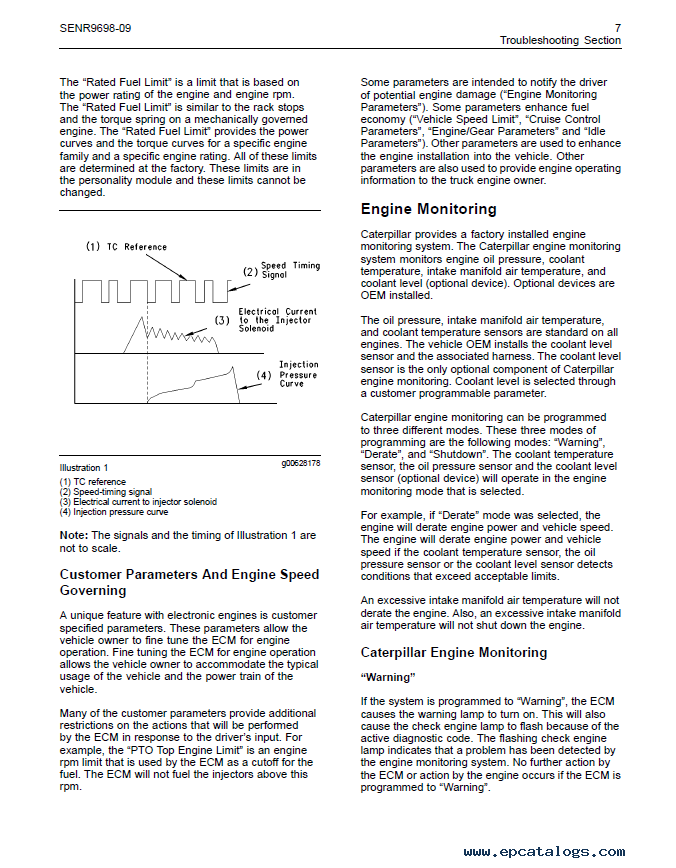caterpillar C11, C13, C15 On-Highway Engines Troubleshooting Manual PDF