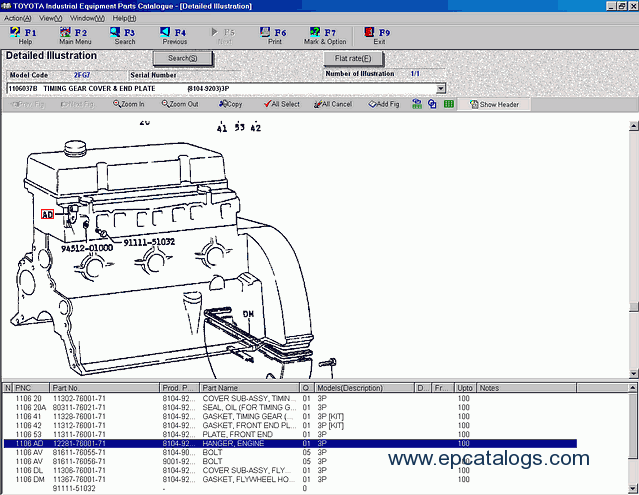 Toyota Industrial Equipment V1 77 Spare Parts Catalog Download