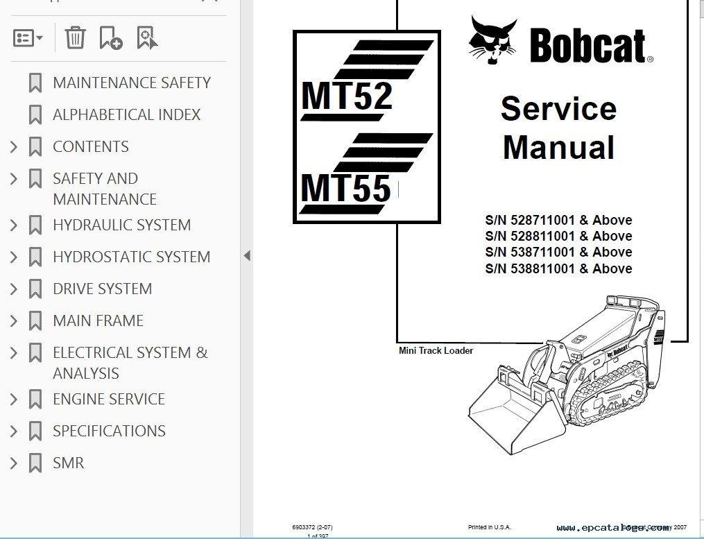 WRG-8765] Mt55 Bobcat Wire Diagram