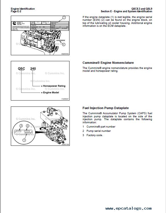 Cummins Engines QSC8 3, QSL9 Operation and Maintenance Manual PDF