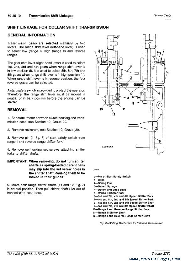 Repair Manual John Deere 2750 Tractor Tm4405 Technical Pdf 4: 2750 John Deere Alternator Wiring Diagram At Mazhai.net
