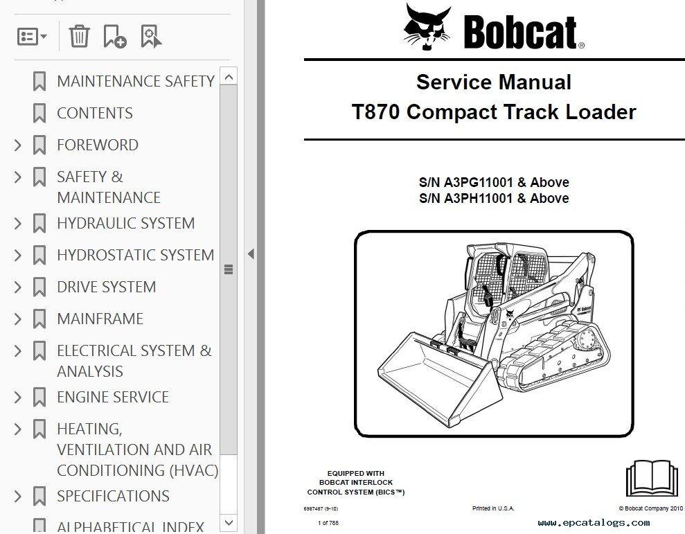 bobcat t870 compact track loader service manual pdf on bobcat t650, bobcat  s450, bobcat bobcat 642b starter wire