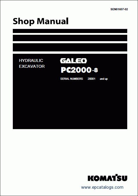 Komatsu Hydraulic Excavator Pc2000