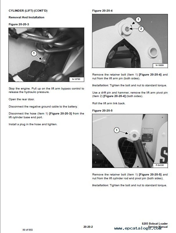 Bobcat s205 service manual pdf