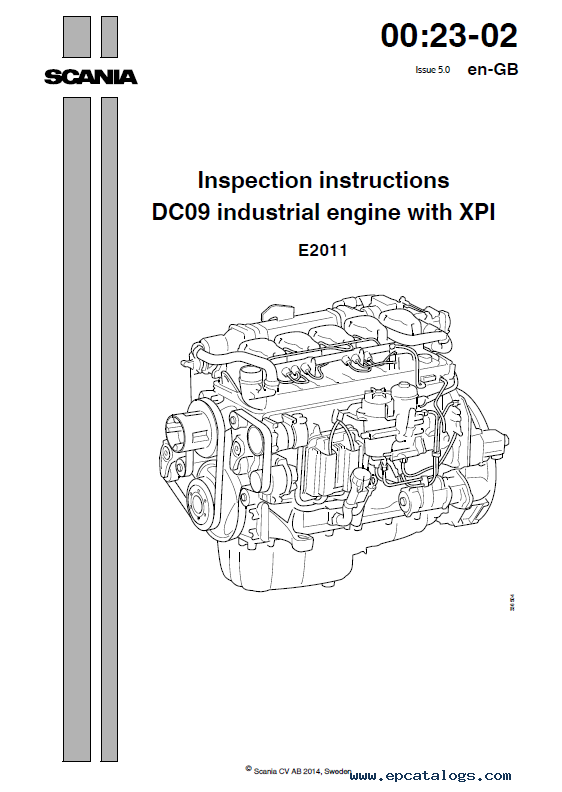 Scania DC09 & DC13 Industrial engines with XPI Instructions and Manuals PDF