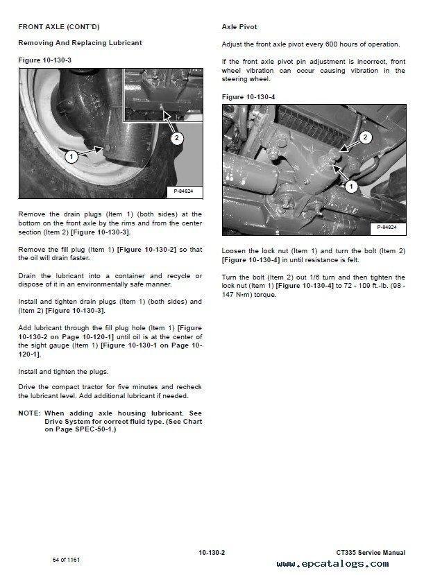 Bobcat CT335 Compact Tractor Service Manual PDF
