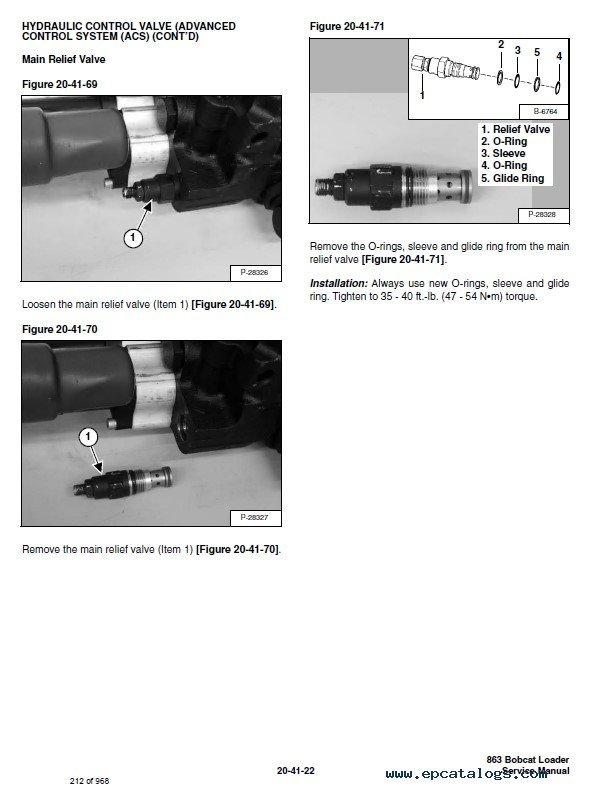 Bobcat 863 Turbo, 863 High Flow Turbo Skid Steer Loaders Service Manual PDF