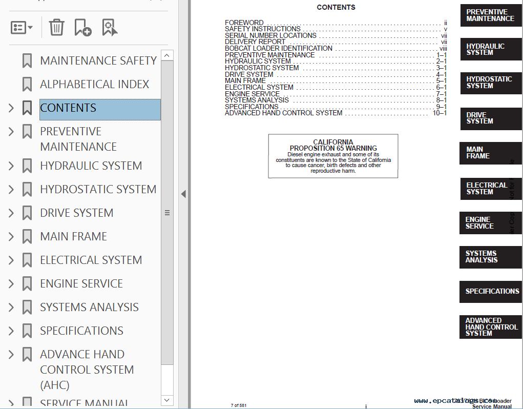 bobcat 763 g bobcat 763, 763 high flow loaders service manual pdf