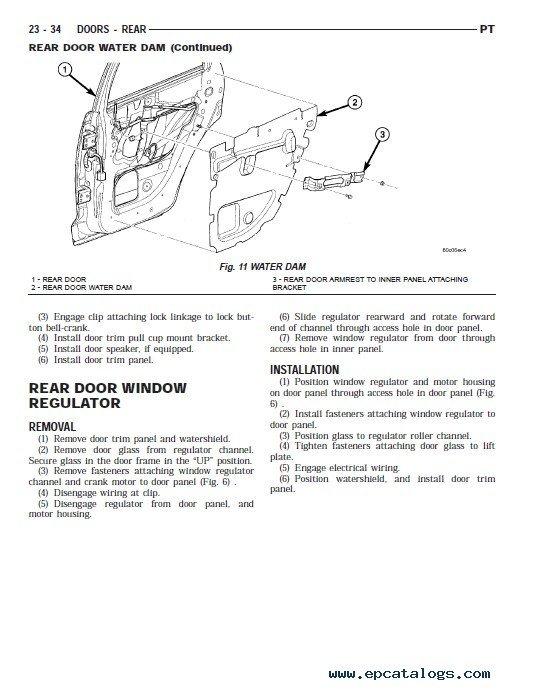 Chrysler PT Cruiser Service Manual 2001-2005 PDF | Pt Cruiser Wiring Schematic Pdf |  | EPCATALOGS
