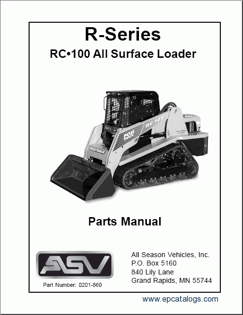 ASV RC 100 asv rc 100, spare parts catalog, heavy technics repair asv rc60 wiring diagram at edmiracle.co