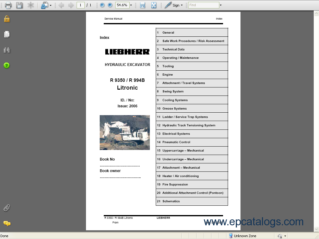 liebherr r9350 repair manual r994b liebherr r 9350 r994b litronic excavator service manual, repair liebherr wiring diagram at nearapp.co
