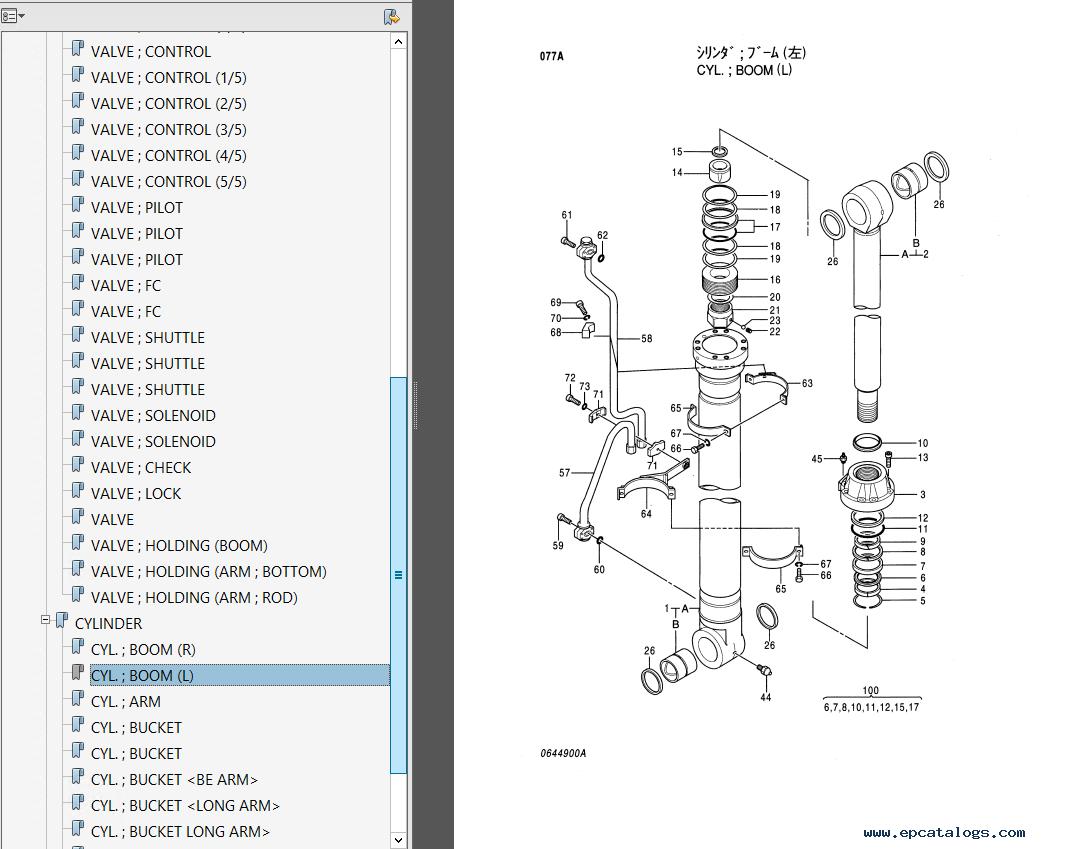 repair manual Hitachi EX550-5 EX550LC-5 EX600H-5 EX600LCH-5 Parts