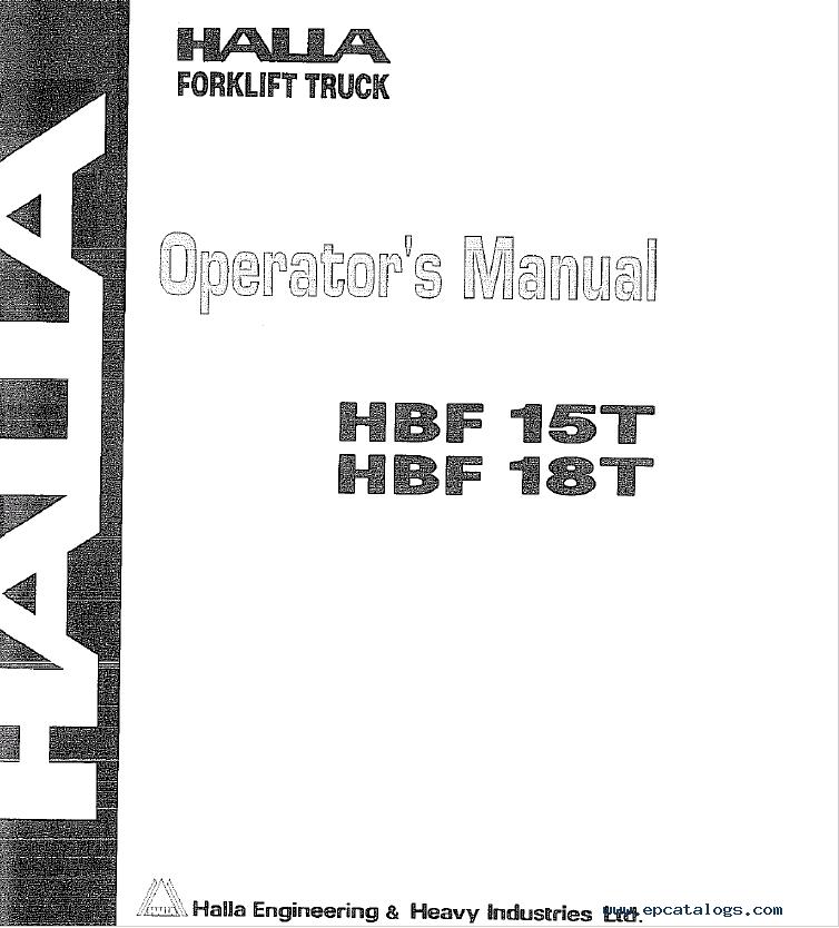 Halla Forklifts Set Of Pdf Parts And Shop Manuals