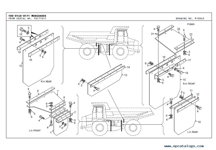 terex tr45 off highway truck parts book pdf spare parts. Black Bedroom Furniture Sets. Home Design Ideas