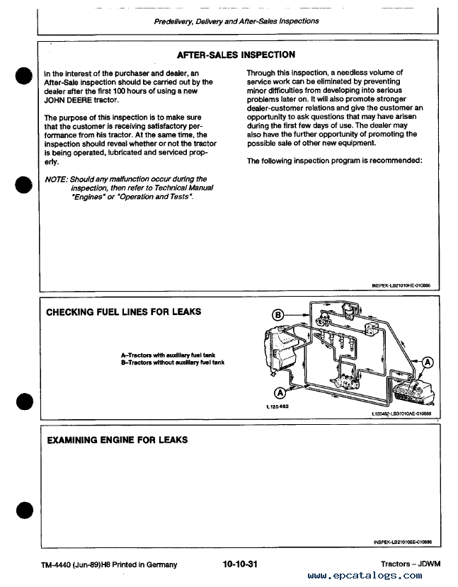 john deere 2250 2450 2650 2650n 2850 tractor tm4440 pdf rh epcatalogs com john deere 2550 repair manual john deere 2850 workshop manual download