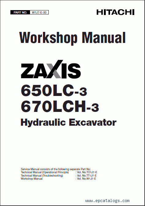 Hitachi Service Manual Zx650lc 3 Zx670lch 3 Zaxis border=