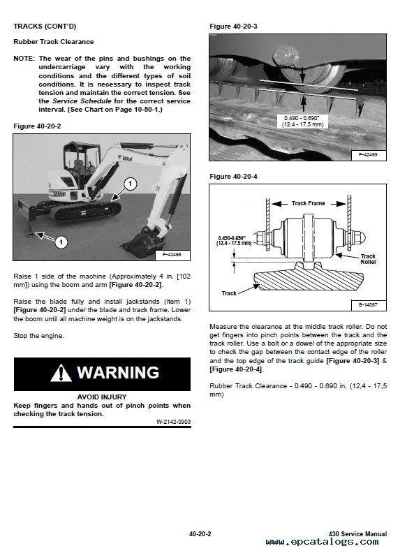 Repair manual Mini excavators