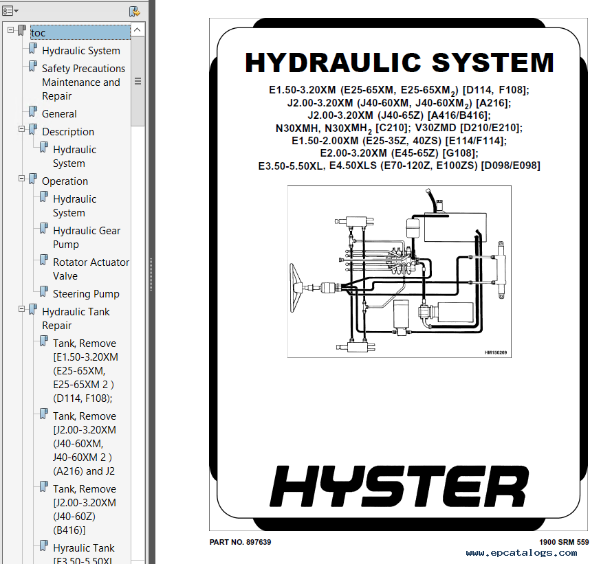 hyster class 1 f108 e45