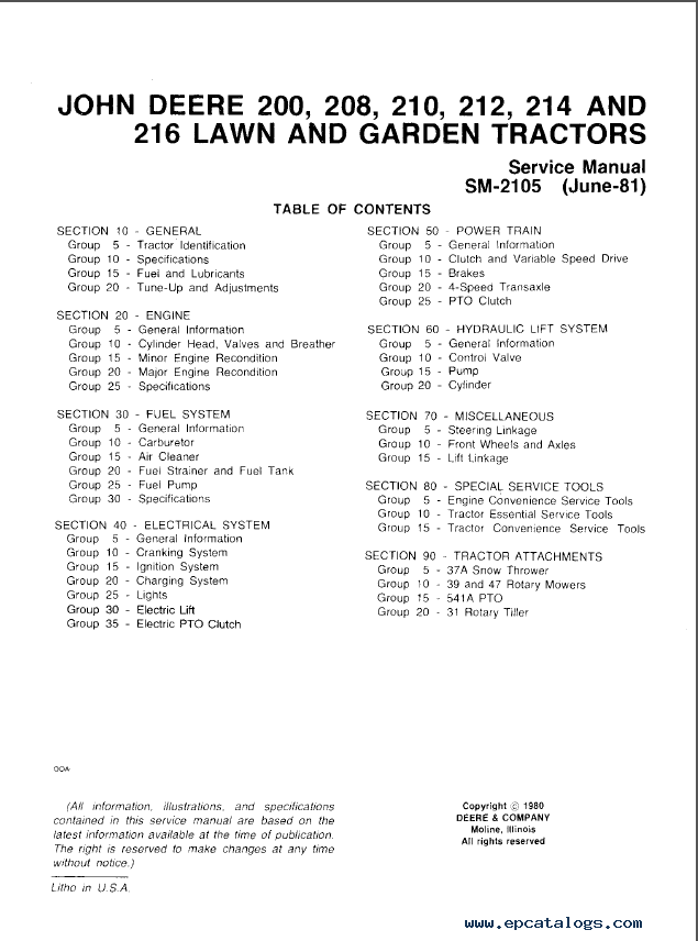john deere 200 210 212 214 lawn garden tractor repair manual pdf diagrams john deere 214 electric lift wiring diagram buying a  at soozxer.org