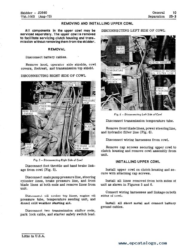 john deere 540 540a skidders tm1003 technical manual pdf rh epcatalogs com John Deere GT225 Manual John Deere Parts Catalog