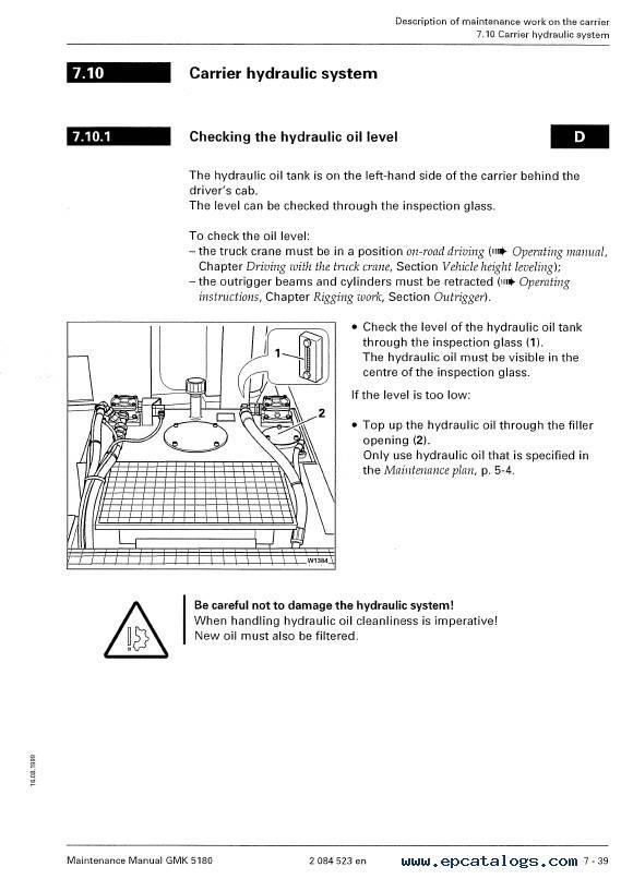 Download Grove Truck Crane GMK 5180 Maintenance Manual
