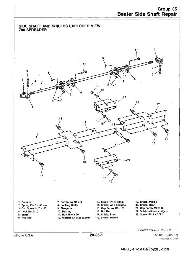 hydraulic spreader wiring diagram john deere 450   780 hydra push manure spreaders tm1318  john deere 450   780 hydra push manure