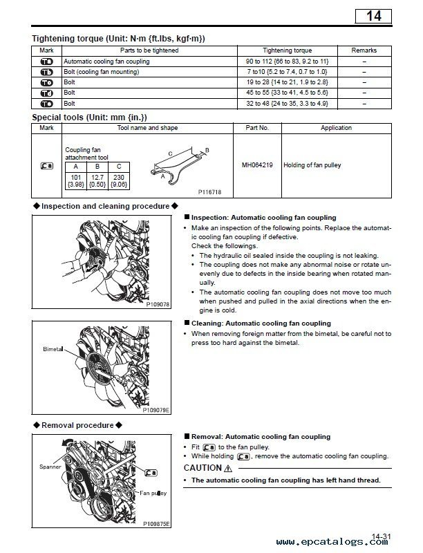 Fuso engine manuals