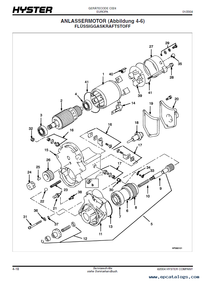 Hyster     C024  S600700XL Forklift PDF Parts Manual GR only
