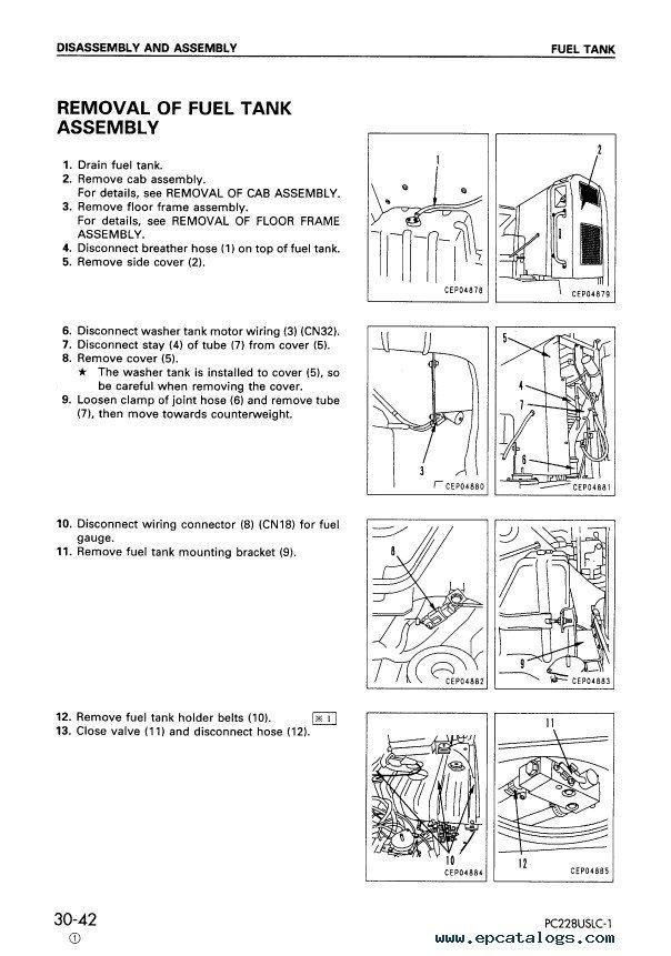 Komatsu Hydraulic Excavators Pc228us Uslc 1 2 3 Pdf Set