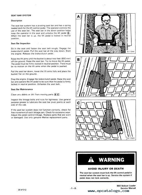 Bobcat 980 Skid Steer Loader Service Manual PDF