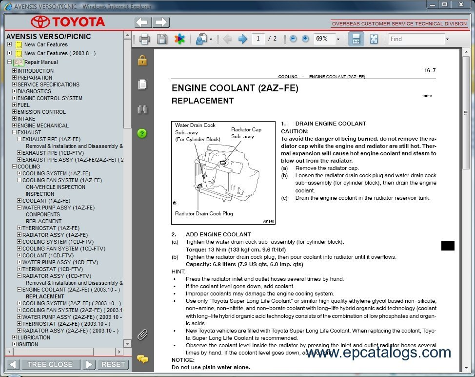 1az fse repair manual pdf