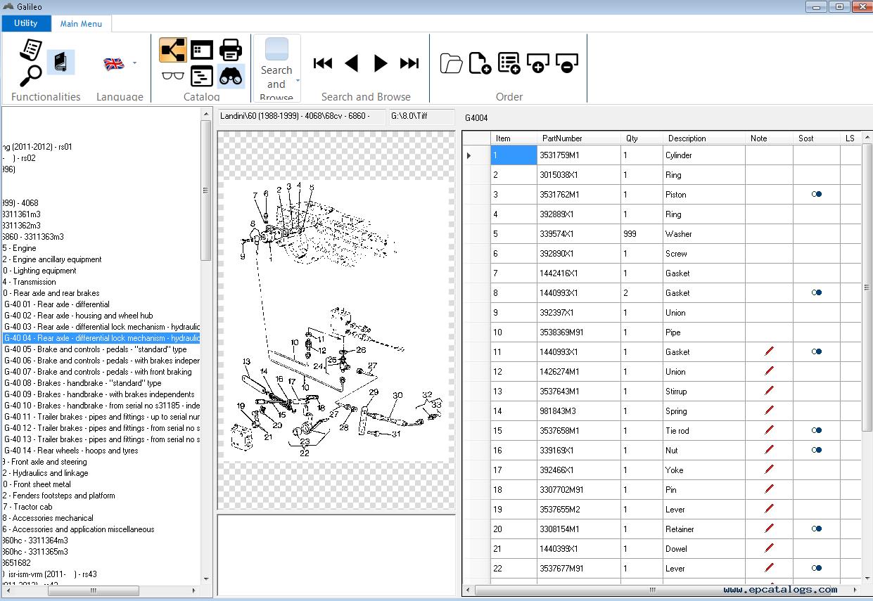 Landini Epc Galileo V8 0 Spare Parts Catalog 2015 Download