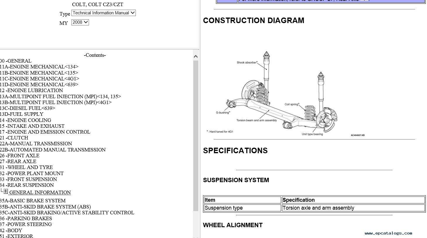 Mitsubishi Colt Czt Wiring Diagram: Mitsubishi Colt (CZ3/CZT)  2008rh:epcatalogs