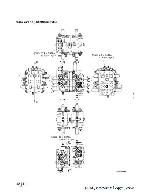komatsu hydraulic excavator pc300 5 pc400 5 repair manual