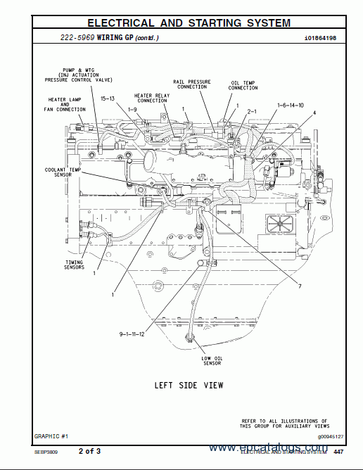 Caterpillar C15 Engine Diagram Left Side Electrical Circuit