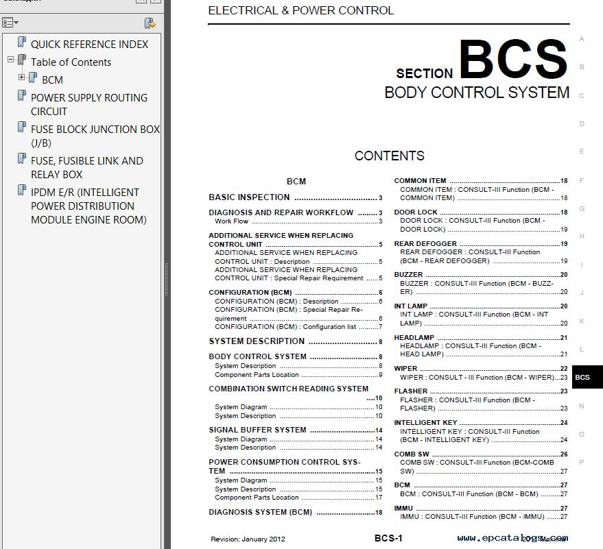 Nissan Maxima Workshop Manual