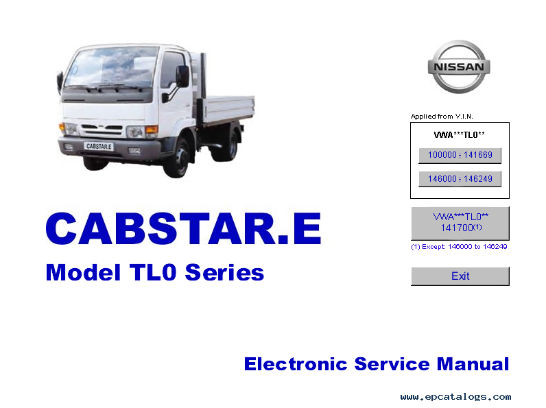 nissan cabstar model tl0 series electronic service manual rh epcatalogs com nissan cabstar workshop manual free nissan cabstar nt400 manual