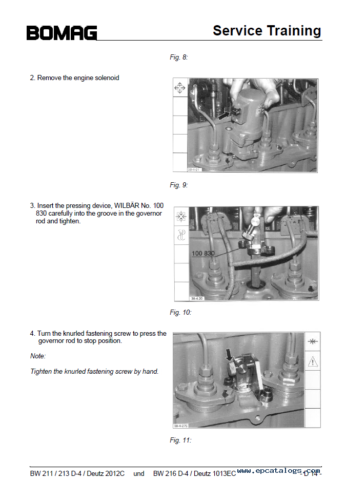 Bomag    BW    211213   216    D4 Drum Rollers Service Training PDF