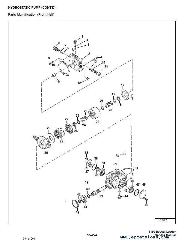 Bobcat T180 Turbo T180 Turbo Hf Loader Service Manual Pdf
