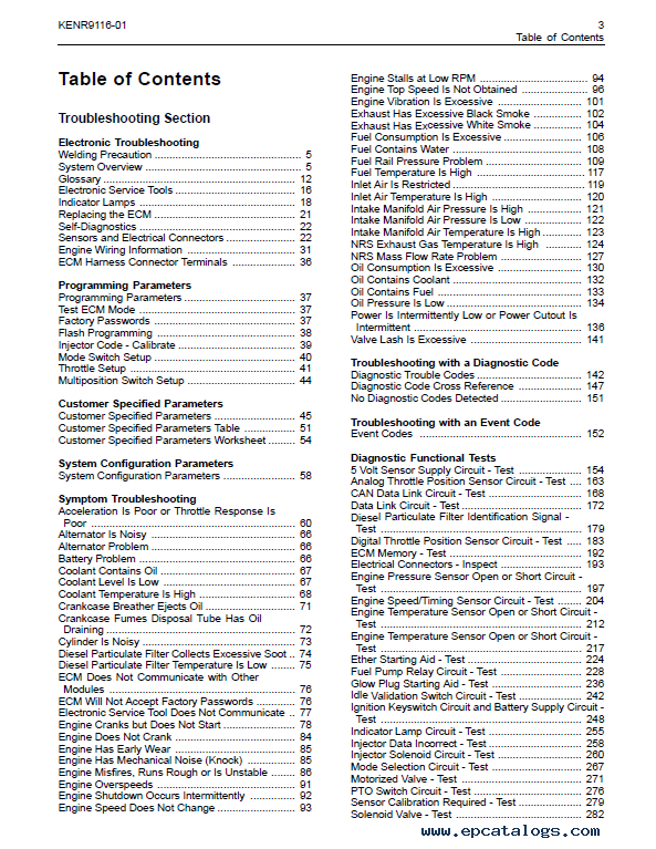 Perkins Industrial Engines 1200E Series Troubleshooting Manual PDF