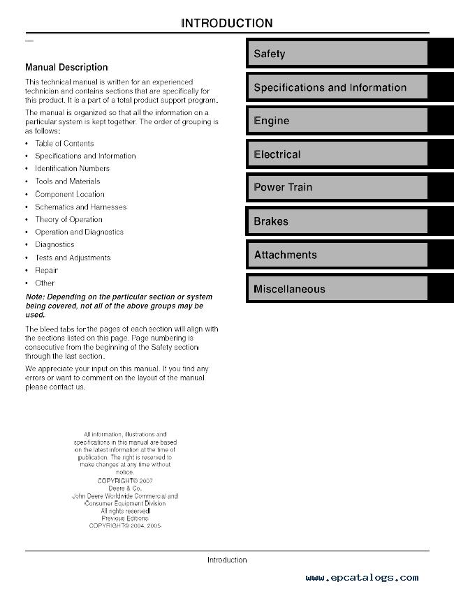 John Deere z trak 737 service manual