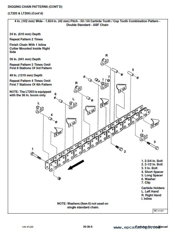 Bobcat Mx And Lt Series Trencher Service Manual Pdf