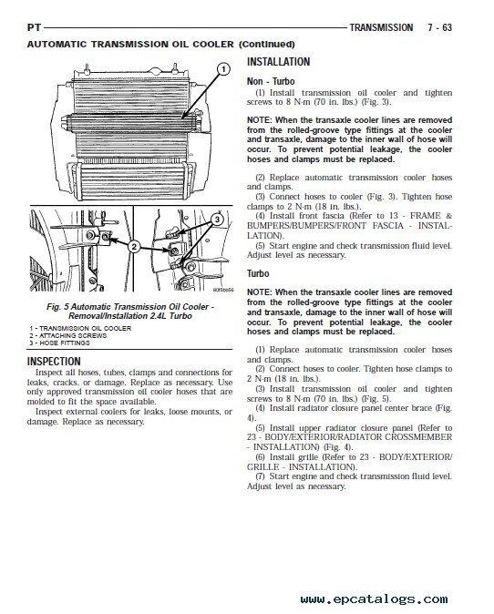 chrysler pt cruiser front end diagram chrysler pt cruiser service manual 2001 2005 pdf  chrysler pt cruiser service manual 2001