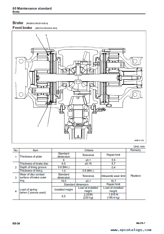 Komatsu Wheel Loader WA270 7 Shop Manuals PDF