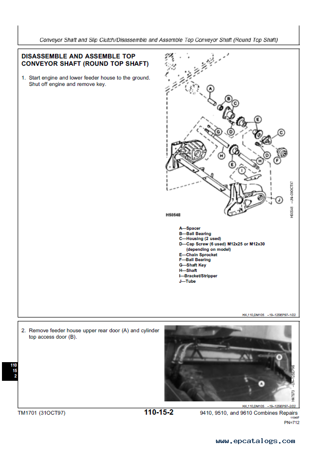 john deere 9410 9510 9610 combines tm 1701 repairs tm 1702 diagnostics test john deere 9410 9510 9610 combines tm1701 repairs tm1702 Case 410 Wiring-Diagram at fashall.co