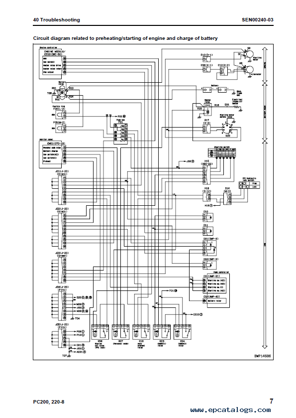 Komatsu PC200 8 PC200LC 8 komatsu hydraulic excavator galeo pc200 8, pc200lc 8, pc220 8 Basic Electrical Wiring Diagrams at et-consult.org