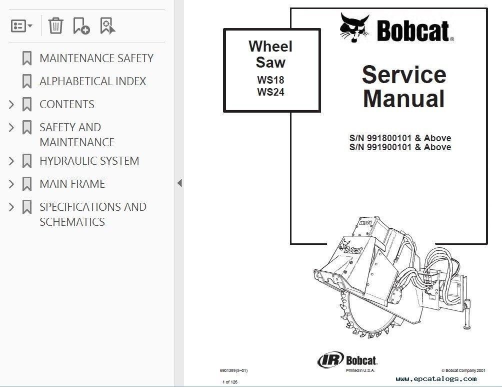 bobcat 7 pin wiring diagram    bobcat    ws18  ws24 wheel saw service manual pdf     bobcat    ws18  ws24 wheel saw service manual pdf